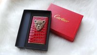 Wholesale Leopard head leather ultra thin polymer cartoon mobile power charging treasure high end business men