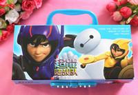Wholesale Three layers of password kid pencil case Stationery creative cartoon writing case children pencil box