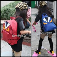 Backpacks backpack bag tutorial - Children School Bag Lovely Cartoon Backpack Monster Fashion Student Tutorial Pack Boys Girls Travel Shoulders Package Pu Leather Schoolbag