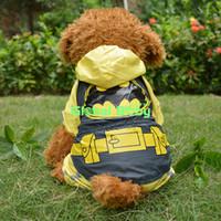batman dog shirt - Adorable High Quality Pet Product Batman Pattern Cotton Pet Dog Waterproof Clothing Puppy Dog Raincoat Clothes