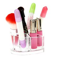 acrylic cosmetic display - Acrylic Crystal Beauty Heart Desktop Cosmetics Make up Storage Box Lipstick Display Rack Holder Gift H14318
