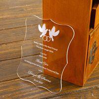 acrylic bird house - Customized Engraved Love Birds Invitation Cards With Envelope Acrylic wedding invitation cards
