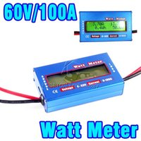 Wholesale 2015 Digital V A Balance Voltage RC Battery Power Analyzer Watt Meter Wattage Tester Amps Servo Test Program Accuracy