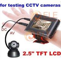 """2.5 """"TFT LCD del probador de la cámara del probador portable del monitor de seguridad CCTV correa de muñeca de la cámara del CCTV Prueba video"""