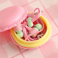 Wholesale Macaron in ear Candy Color Music Bowknot SIBYL M85 Earphone Headphone Headset for Samsung Andriod iPhone ipad MP3 MP4 Universal