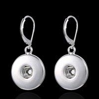 Wholesale 2015 Fashion Jewelry NOOSA earrings accessories Plating Alloy DIY geometric earrings Personality Charm Earrings NOOSA earrings for women