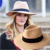 Sombrero de Wollen del otoño del verano Sombreros de Sun de la playa de Fedora de las señoras Gorro de lana puro