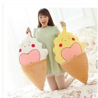 Cheap Cute ice cream cones plush toys dolls doll pillow cushions creative birthday gift female