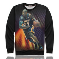 basketball uniforms - Hot Sale new Basketball famous star kobe Bryant pattern D sweatshirt hoody men boys basketball uniform