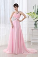 Cheap 2015 Bridesmaid Dresses Chiffon Sexy Beads Trailing Generous Fashion Shoulder Clothing Women Long Dress Evening Dress Prom Party Dress