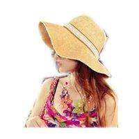 beach blogs - Sun Hat Straw Beach Headwear Cap Bohemia Wide Large Brim Choke a small chili latest blog vivi magazine straw hat handmade lace b