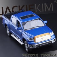 best car models - High Simulation Exquisite Model Toys ShengHui Car Styling TOYOTA Tundra Pickup Trucks Model Alloy Car Model Best Gifts