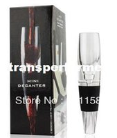 wine glass box - Hot Sell Mini Wine Aerator Magic Decanter Red Wine Decanter Aerating Glass Bottle Gift Box DHL