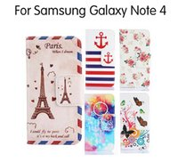 art note cards - Filp PU Leather Art Print Case For Samsung Galaxy Note Case Stand Holder Cases With Card Slots Gift Screen Protector