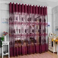 Wholesale 2015 Super Deal Trendy Leaf Hollow Window Screens Door Balcony Window Curtain Fashion Beautiful Panel Sheer Covers CMX200CM