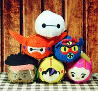 armored movie - TSUM TSUM plush Toys Big Hero Armored Baymax Anime Mobile Screen Cleaner Key Chain Bag Hanger for Mobile Phone Ipad