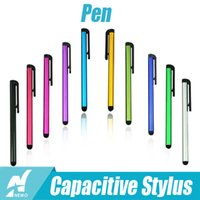 Wholesale Capacitive Stylus Pen Touch Screen Highly sensitive Pen For iPhone ipad samsung s5 s6 Tablet Mobile Phone