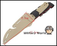 airsoft knife - US Army AC Plastic Knife for Training Airsoft Tactical Outdoor Camping Survival Cosplay Knife Model DE Color