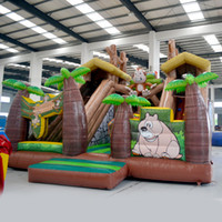 Wholesale AOQI inflatable fun city inflatable jungle monkey fun city inflatable fun land for kids for sale made in China
