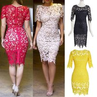 celebrity bandage dress - X Large XXL Plus Size Women Clothing Bandage Dress Celebrity New Floral Boho Crochet Lace Pencil Midi Evening Brand Dresses
