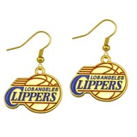 angeles siding - 20 Pairs Los Angeles Clippers Personalized Single sided Sports Team Logo Hook Drop Dangle Jewelry Earring E108097