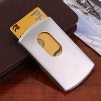 Wholesale Stainless Steel Silver New Men Wallet Business ID Name Credit Card Holder Case