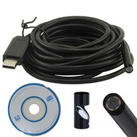 Wholesale 2015 Brand New LED mm Lens Android Endoscope Waterproof Inspection Borescope Tube Camera M