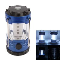 Wholesale 12 LED Travel Hiking Camping Light Lantern Outdoor Indoor Tent Lamp with compass US T00541