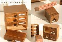 Wood stamps - Wooden drawer Stamps set seal DIY diary carved gift decor craft scrapb vintage stamp design can choose