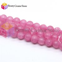 Wholesale High quality roseo Natural Jade stone round beads mm inches strand for jewelry making BCS