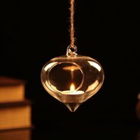 Wholesale 6PCS onion shape hanging candle holders succulent indoor planter wedding candles holiday gifts