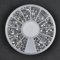 bulk glitter - Bulk mm Sliver d Nail Art Studs Plastic Glitter Charms DIY Decoration Stamping Wheel