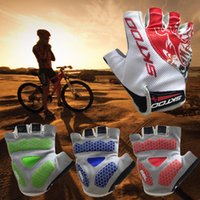finger bike - 2015 New Breathable Summer Outdoor Racing Gloves MTB and Road Bike Half Finger Cycling Gloves Biking Gloves Antiskid GEL