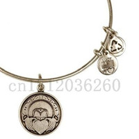 Wholesale Bangle Alex And Ani Claddagh Expandable Wire Bangle alex ani silver jewelry charm bracelet fashion bracelet