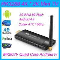 Wholesale Newest MK903V RK3288 Quad Core Cortex A17 Android Smart Mini PC TV Stick Ultra HD K HDMI WiFi H H BDMV MKV Player
