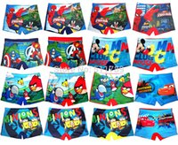 Cheap 2015 Newest children kids baby boy CAR Spiderman Minion Swimming Trunks Swimwear bathing wear swimming shorts  beach wear Surfing wear