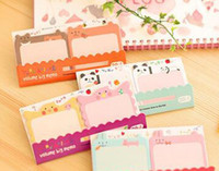 Wholesale Cute Mini Animal Romantic Memo Pad Sticky Kawaii Paper Sticker Post It Note for Kids Gifts Korean Stationery