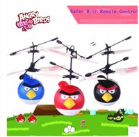amazing rc helicopter flying - Amazing Flying Bird Toys Remote Control line Novelty UFO RC ElectronicDrone InfraredInduction LED Lighted Toy Helicopter Halloween KidsGifts