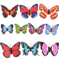 Wholesale New Colorful Butterfly Garden Ornament Flowerpot Decor Butterfly w Stick PTSP