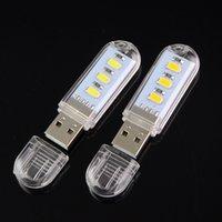 Wholesale 2015 New Mini USB Light Camping Night Mobile USB LED Lamp White Warm White Reading Lamp Light W LEDS USB Night Light