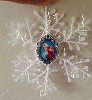 Wholesale Frozen Anna Elsa Snowflakes Christmas Tree Decorations Anna Elsa Olaf Snow flakes Christmas Party Decoration Xmas Tree Decor