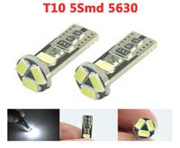 Wholesale 20x T10 canbus led w5w smd smd led car light lamp no error Free white Indicator Light v LB106