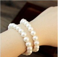 beaded jewelry - Factory price Simulated Pearl Bracelets beaded bracelet Stock women Fashion pearl jewelry New arrival