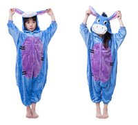animal games for kids - 2016 Cosplay donkey Animal Pajamas for Kids Hooded Conjoined Sleepwear Costumes Unisex Onesie Soft Sleepwear
