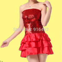 Wholesale 2015 New Fashion Stage Dance Dress Women Latin Dance Dress Women Stage Latin Dance Evening Dress Women Tassels Costume Dress