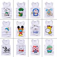Wholesale kids tank tops 2015 summer sleeveless top cotton Children t