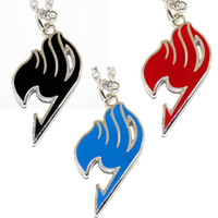 Wholesale Fairy Tail New Guild Logo Sign Emblem Anime Cosplay Necklace Pendant colors