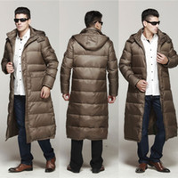 Wholesale New Chic Man Thicken Long Warm Down Jacket Duck Down Long Sleeve Outwear Parka