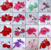 Wholesale Flower Princess soft baby shoes for girl baby shoe Toddler Shoes Lace First Walkers