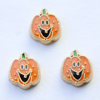 halloween charms - halloween pumpkin charms floating charms for living locket